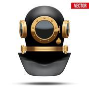 Underwater diving helmet. Vector Illustration Stock Illustration