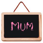 Small black board with word mum Stock Illustration