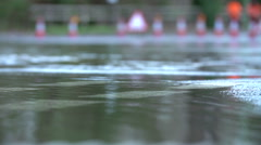 Slow Motion Sequence Of Flood On Road Stock Footage