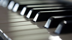 Piano keyboard background. Dolly Shot Stock Footage