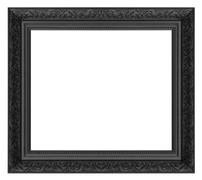 Black  picture  frame Stock Photos