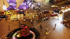 KUALA LUMPUR, MALAYSIA - MAY 2014: traffics night, timelapse - HD Stock Footage