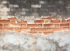 Background of brick wall texture old Stock Photos