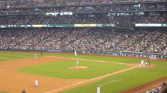 Mets vs Mariners Baseball Sequence Stock Footage