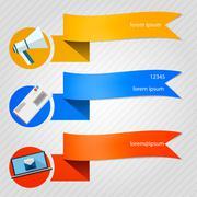 Vector icons for newsletter Stock Illustration