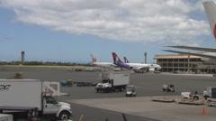 Honolulu International Airport Hawaii Time Lapse (HNL) Stock Footage