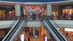 Interior shopping center Stock Footage