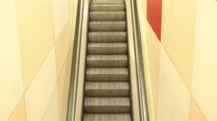 Empty escalator going up - loopable Stock Footage