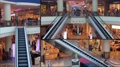 Interior shopping center Stock Footage