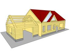 Stock Illustration of new build house