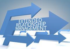 Extended relationship management Stock Illustration