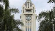 Stock Video Footage of Aloha Tower Honolulu Oahu Hawaii (Close Up)