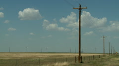 Oklahoma Panhandle power windmills 4 Stock Footage