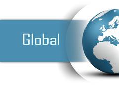 global - stock illustration