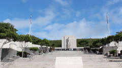 Punchbowl National Memorial Cemetery of the Pacific Hawaii Stock Footage