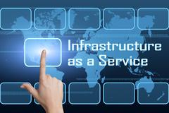 infrastructure as a service - stock illustration