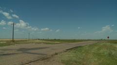 Oklahoma power windmills at Texas border 7 Stock Footage