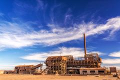 saltpeter refinery - stock photo