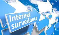 internet surveillance - stock illustration