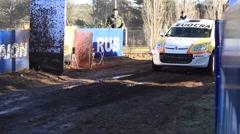 Auto start of Rally Argentina2 Stock Footage