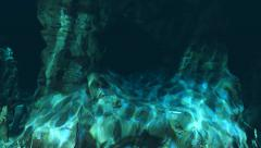 Diving from the abyss into the light - stock footage