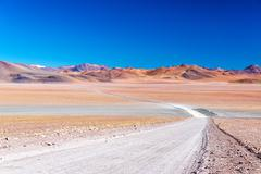 Barren and colorful landscape Stock Photos
