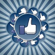 Stock Illustration of like stickers