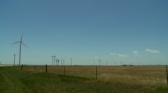Windmills in the Oklahoma panhandle 6 Stock Footage