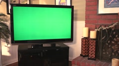 Greenscreen on Big Screen TV Dolly Move 4K - stock footage
