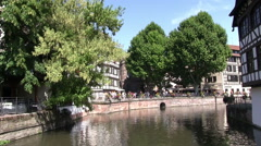 France - Alsace - Strasbourg - View to the Petite France area - stock footage