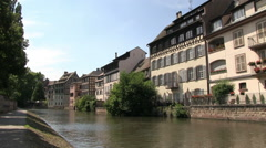 France - Alsace - Strasbourg - Buildings along the river Stock Footage