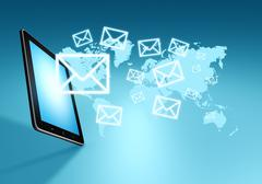 modern communication technology - stock illustration