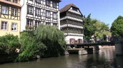 Stock Video Footage of France - Alsace - Strasbourg - Petite France area