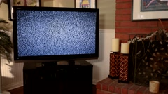 TV Static on Big Screen Dolly Move 4K Stock Footage