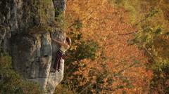 Fall - Autumn- Climbing Stock Footage