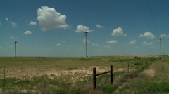 Windmills in the Oklahoma panhandle 7 Stock Footage