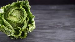 Savoy cabbage - stock footage