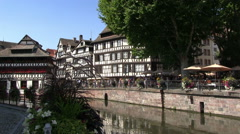 France - Alsace - Strasbourg - View to the Petite France area Stock Footage