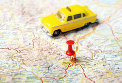 tripoli greece map taxi - stock photo