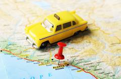 alanya ,turkey  map taxi - stock photo
