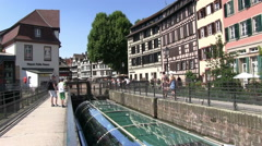 Stock Video Footage of France - Alsace - Strasbourg - View to the Petite France area