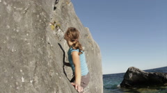 Close up of Rock Climber Stock Footage
