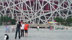 Beijing Olympic park at daytime 4K Stock Footage