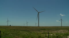 Windmills in the Oklahoma panhandle 11 Stock Footage