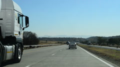 Driving Down a Highway in South Africa on a Clear Day, HD, 1080 Stock Footage