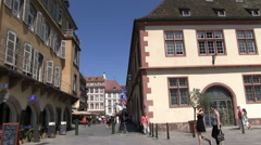 France - Alsace - Strasbourg - Buildings in the city center Stock Footage