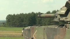 U.S. Army Tank practice fire - Tank fires Gun 3 Stock Footage