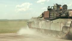 U.S. Army Tank practice fire - Tank Fires Gun Stock Footage
