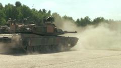 U.S. Army Tank practice fire - Tank fires gun 2 - stock footage