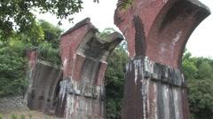 Miaoli Longteng Bridge in Taiwan Stock Footage